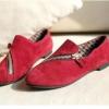 รองเท้าหุ้มส้นผู้หญิง รองเท้ามีส้น เล็กน้อย หนัง pu สีพื้น แต่งซิป ด้านหน้า รองเท้าผู้หญิง ใส่เที่ยว ใส่ทำงาน สีแดง 78085_2