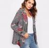 เสื้อสูท เสื้อแจ็คเก็ต เสื้อคลุม แขนยาว ลายสก็อต เพ้นท์ลายดอกไม้ เสื้อสูท แฟชั่น ดีไซน์ ใส่เที่ยว สวย ๆ 229173