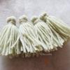 พู่สีเทาอ่อนโครเชต์ ไหมพรม 4 ply gray tassel crochet acrylic yarn 4 ply