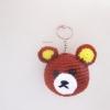 พวงกุญแจหัวตุ๊กตาคุมะถัก สูง 2 นิ้ว rilukkuma bear amigurumi crochet keychain