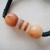 BCo04Bหยกแท้สีส้มแดงสีธรรมชาติ ปรับไซท์ฟรีไซท์ 16-30cm.