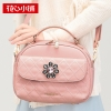 กระเป๋าสะพาย สีชมพูอ่อน-Axixi