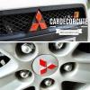 Front Mitsubishi standard reflective stickers - สติ๊กเกอร์โลโก้มิตซูบิชิ สามเหลี่ยมสีแดง ( สำหรับหน้ารถ )