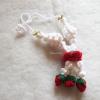 พวงมาลัยดอกกุหลาบถักแขวนหน้ารถ / แขวนกระจกรถ ถักโครเชต์ thai garland crochet hanging