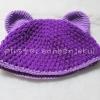 หมวกหมี สีม่วง