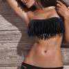 ชุดว่ายน้ำ ทูพีช แบบ บิกินี่ เหมาะสำหรับ สาวเปรี้ยว ชุดว่ายน้ำเกาะอก สินค้าใหม่ ราคาถูกสุด ๆ สีดำ no 24418