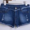 กางเกงยีนส์ขาสั้น กางเกงผู้หญิง ขาสั้น ยีนส์สีเข้ม ดีไซน์ แนวเซอร์ แต่งขอบ รุ่ย ที่เอว ขา กางเกงยีนส์ เท่ ๆ แบบเก๋ ใส่เที่ยว น่ารักมากค่ะ 497025