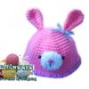 หมวกถักน้องกระต่าย