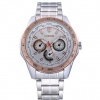 นาฬิกาข้อมือ ผู้ชาย ผู้หญิง ใส่ได้ นาฬิกา สายสแตนเลส ดีไซน์ ผสมผสาน ความเป็น สปอร์ต หน้าปัด ฟ้า ทอง ดำ ด้านใน ด้านข้าง สลัก ชื่อประเทศ แบบหรู 457615