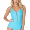 ชุดว่ายน้ำผู้หญิง ชุดว่ายน้ำเด็กผู้หญิง วันพีช ทรง วีคัท สีพื้น สีฟ้า แต่งลายซิปตรงกลาง ดีไซน์สุดเก๋ ราคาถูก 392360_14