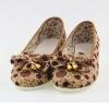 รองเท้าหุ้มส้น รองเท้า คัทชู โทนสีน้ำตาล ลายจุด แต่งโบว์ ที่หัวรองเท้า รองเท้าแฟชั่น วัยรุ่น ใส่สบาย แบบเรียบร้อย ออกงานได้ 175941