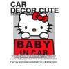 Hello kitty - สติกเกอร์ตกแต่งรถยนต์ Baby in car คิตตี้เบบี้อินคาร์