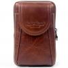 กระเป๋าคาดเอว หนังแท้ สีน้ำตาล แนวตั้ง กระเป๋าใส่โทรศัพท์ คาดเอว มีขอเกี่ยว และ ที่คาดเข็มขัด แบบสวย 964243