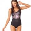 ชุดว่ายน้ำผู้หญิง ชุดว่ายน้ำเด็กผู้หญิง วันพีช ทรง วีคัท ลายการ์ตูน ฝูงสุนัขจิ้งจอก สีดำ สวยเก๋ ราคาถูก 392360_9