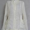 เสื้อแจ็คเก็ตผ้าร่มสีขาว made in korea