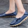รองเท้าหุ้มส้น ผู้หญิง รองเท้าหนังแท้ รองเท้า รัดส้น ฉลุลาย ดอกไม้ รองเท้าหนัง ใส่เที่ยว สีฟ้า เหลือง ขาว ดำ 814111