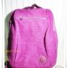 กระเป๋า notebook สะพายหลัง 3 สไตล์ สีม่วง KP010
