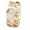 นาฬิกาข้อมือ ผู้หญิง ใส่ทำงาน นาฬิกาข้อมือ สีเงิน สีทอง ออกแบบ เป็น ห่วงเงิน ห่วงทอง ร้อยต่อกัน สวยหรู มีระดับ นาฬิกาใส่ทำงาน แบบหรู 815193