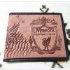 กระเป๋าสตางค์ทีมฟุตบอล Liverpool หนังกลับสีน้ำตาลอิฐ M002