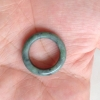 RJ55(6) แหวนหยกพม่าแท้ไซท์เล็กพิเศษ ไซท์ 55 USA7 นื้อสวยเกรดส่งออกสีธรรมชาติ 100 %