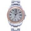 นาฬิกาข้อมือ ผู้ชาย ผู้หญิง ใส่ได้ นาฬิกา สายสแตนเลส สีเงิน ดีไซน์ หน้าปัดแบน สวยหรู คลาสสิค ตัวเลขด้านใน เป็น ตัวเลข โรมัน ของขวัญให้แฟน 286652