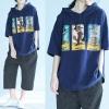 JY25225#เสื้อOversizeสไตล์เกาหลี เสื้อโอเวอร์ไซส์แต่งลายแนวๆ อก*100ซม.ขึ้นไปประมาณ40-42นิ้วขึ้น