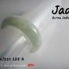 RJ22S แหวนหยกพม่าแท้สีเขียวอ่อนเนื้อค่อนข้างใส
