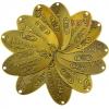 ป้ายเหล็ก Handmade รี สีทองเหลืองรมดำ 3x6 ซม. (แพ็ค 12 ชิ้น)