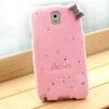 เคส Samsung galaxy note 3 n9000 n9009 n9005 เคสขนนุ่ม ติดคริสตัล วิ้ง ๆ และ โบว์ ที่ขอบ สีชมพูอ่อน no 74248_2