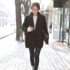M : CLASSIC BLACK COAT [ เสื้อโค้ท กันหนาว สีดำ ] พร้อมส่ง