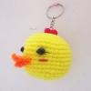 พวงกุญแจหัวตุ๊กตาเป็ดเหลือง สูง 2 นิ้ว duck amigurumi crochet keychain