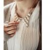 Collar Necklace สร้อยคอแฟชั่นสไตล์เกาหลีคอเสื้อประดับคริสตัลมี 2 สีค่ะ
