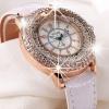 นาฬิกาข้อมือ ผู้หญิง ใส่ทำงาน นาฬิกาข้อมือ สายหนัง ฝังเพชร สุดหรู แต่งหน้าปัด ด้วยเม็ดบีด ขนาดเล็ก นาฬิกาสายหนัง สวยหรู ดูไฮโซ 952862