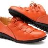 รองเท้าหุ้มส้น รองเท้าหนังแท้ แบบวัยรุ่นเท่ ๆ รองเท้าหนังผู้หญิง สีส้ม ดีไซน์ มีเชือกถัก เป็นรูปตัว u รองเท้าใส่เที่ยว แบบมีสไตล์ 335533_3
