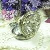 นาฬิกาพก,นาฬิกาสร้อยคอโบราณฝาฉลุลายผีเสื้อและดอกไม้