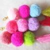 ปอมปอมโครเชต์ห้อยกระเป๋า/พวงกุญแจ pompom crochrt
