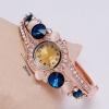 นาฬิกาข้อมือ นาฬิกาผู้หญิง แบบ กำไลข้อมือ ติด พลอย คริสตัล ออสเตเรีย สีสวย นาฬิกา แบบหรูหรา แต่ง เพชร พลอย ทับทิม ไพลิน สวยหรู มีระดับ 428773