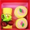 เค้กโรลผ้าขนหนู เซอร์ไพร์สวันพิเศษ (วันเกิด,วันวาเลนไทน์,วันแห่งความรัก) สีเหลือง