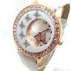 นาฬิกาข้อมือผู้หญิง นาฬิกาแฟชั่น หน้าปัดฝังเพชร คริสตัล รูปตัวผีเสื้อ บิน น่ารักสุด ๆ มี สายสีขาว และ สายสีดำ 297567