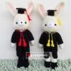 """ตุ๊กตาถัก กระต่ายรับปริญญา ม.เกษตรศาสตร์ 11"""""""
