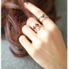 แหวนคู่สองชิ้น สีเงินและสีทอง แสนจะน่ารัก