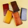 กระเป๋าสตางค์ผู้ชาย กระเป๋าสตางค์ผู้หญิง ใช้ได้ กระเป๋าสตางค์ หนังวัวแท้ ฟอกฝาด งานคลาสสิค โชว์ความเป็นหนังแท้ งานเย็บสวย แบบแบน ของขวัญให้แฟน 827603