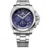 นาฬิกาข้อมือ ผู้ชาย สาย Stainless มีระบบ วันที่ สีเงิน หน้าปัด สุดล้ำ สีน้ำเงิน แบบสวย ดูหรูหรา มีระดับ ใส่ทำงาน ของขวัญให้แฟน ระบบ Quartz จากญี่ปุ่น 504854_3