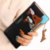 กระเป๋าสตางค์ผู้หญิง กระเป๋าสตางค์ใบยาว ดีไซน์ใหม่ แต่งโลโก้ กระเป๋า 3 มิติ ทรงสี่เหลี่ยม ใส่บัตรได้เยอะ มีช่องแยกพิเศษ สีดำ คลาสสิค 560339_4