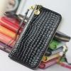 กระเป๋าสตางค์ผู้หญิง ใบยาว กระเป๋าสตางค์ซิปรอบ หนัง Pu กันน้ำ หนังเงาสวย ลายหนังจรเข้ สีดำ แดง เขียว เหลือง ใส่โทรศัพท์ได้ 558069