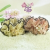 โดนัทรัดผมสไตล์ญี่ปุ่นผ้าชีฟองแต่งมุกและลูกไม้2สีค่ะ