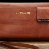 กระเป๋าสตางค์ แบบ กระเป๋าถือ ผู้หญิง ผู้ชาย ใช้ได้ หนังแท้ ทนทาน ใช้งานจนลืม แบบสวย กระเป๋าสตางค์ใบยาว ผู้ชาย ลายไม้ สีน้ำตาลอ่อน no 6599