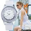 นาฬิกาข้อมือ ผู้หญิง สาย ซิลิโคนแท้ สำหรับคนแพ้ง่าย นาฬิกา ดีไซน์ หน้าปัด ใส่คริสตรัลแท้ สีชมพู เขียว ม่วง แบบวัยรุ่น ไฮโซ 286683