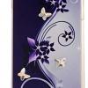 เคส iphone 6 Plus ขนาด 5.5 นิ้ว ติด เพชร ผีเสื้อ ดอกไม้ วิ้ง ๆ ระยิบระยับ โทนสีม่วง สีคลาสสิค เคส Diy สุดเก๋ ไม่ซ้ำใคร 87789