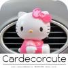 ( ลด 10 % ) HELLO KITTY - น้ำหอมปรับอากาศติดแอร์รถยนต์ (3 สี)